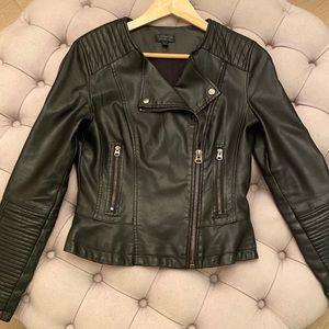 Vegan Leather Jacket | Topshop Size: 6